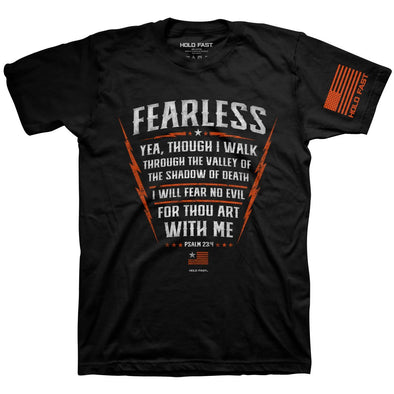 Hold Fast Christian T-Shirt Psalm 23:4 Fearless