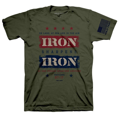 HOLD FAST Mens T-Shirt Iron