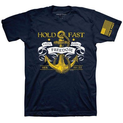 HOLD FAST Mens T-Shirt Hold Fast Anchor