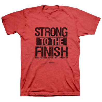 Light Source Mens T-Shirt Strong To The Finish T-Shirts
