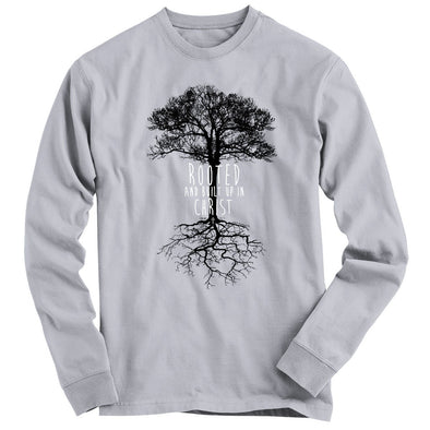 Light Source Mens Long Sleeve T-Shirt Rooted T-Shirts