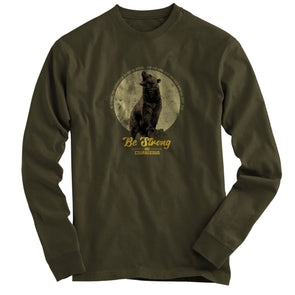 Light Source Mens Long Sleeve T-Shirt Bear Moon