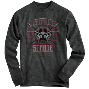 Light Source Mens Long Sleeve T-Shirt Stand Strong Armor