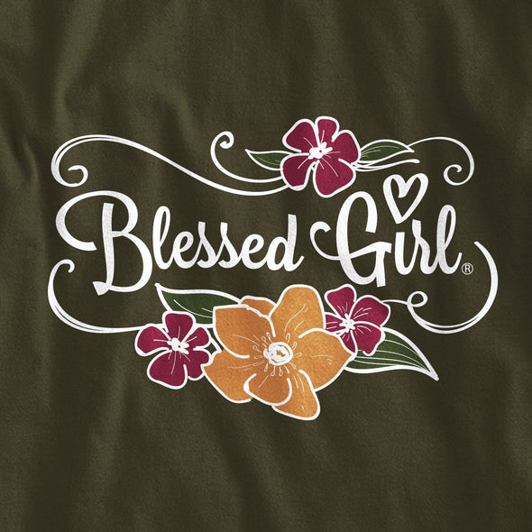 Blessed Girl Womens Long Sleeve T-Shirt Let All You Do
