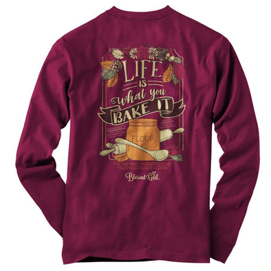 Blessed Girl Womens Long Sleeve T-Shirt Life Is What You Bake It