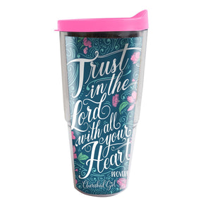 Cherished Girl Christian Acrylic Tumbler Trust in the Lord