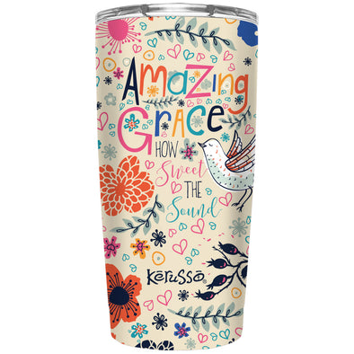 Kerusso Amazing Grace 20 oz Stainless Steel Tumbler