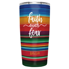 Kerusso Faith Over Fear 20 oz Stainless Steel Tumbler