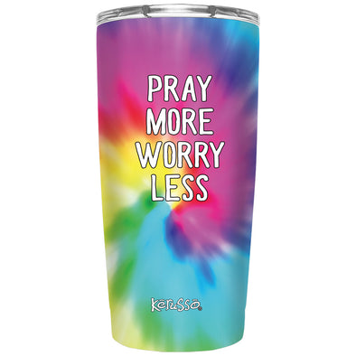 Kerusso Pray More Tie Dye 20 oz Stainless Steel Tumbler