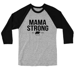Blessed Girl Womens Raglan T-Shirt Mama Strong