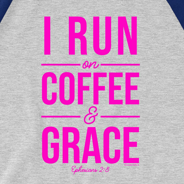 Blessed Girl Womens Raglan T-Shirt Run On Coffee T-Shirts