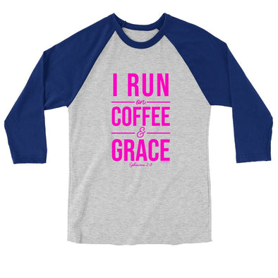 Blessed Girl Womens Raglan T-Shirt Run On Coffee