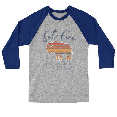 Blessed Girl Raglan - Set Free Bison