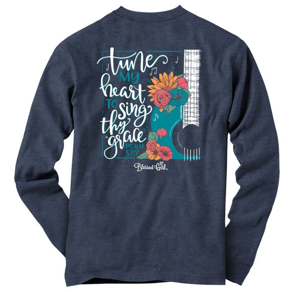Blessed Girl Womens Long Sleeve T-Shirt Sing Thy Grace
