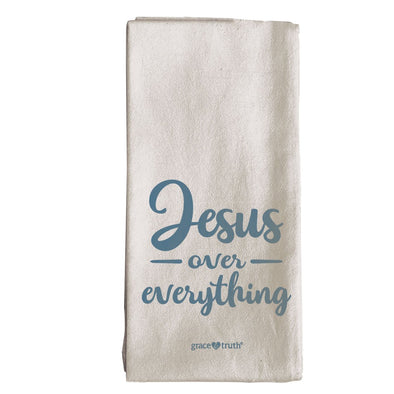 grace & truth Jesus Over Everything Tea Towel