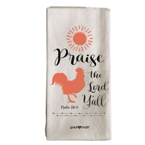 grace & truth Rooster Tea Towel