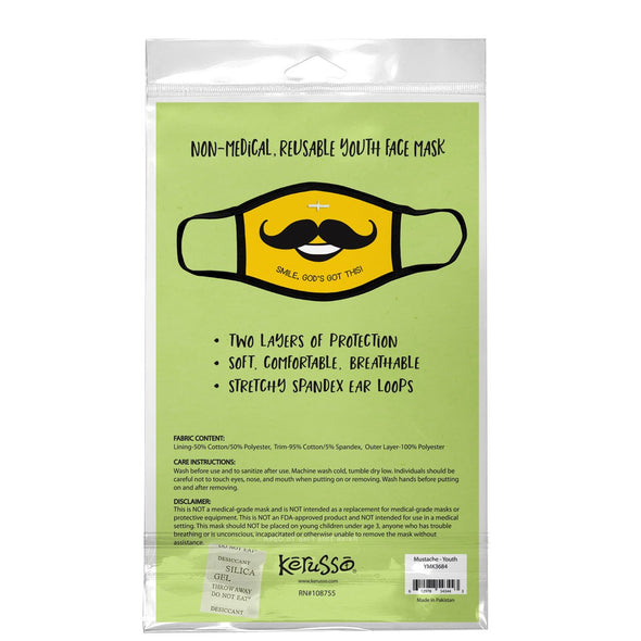 Kerusso Youth Face Mask Mustache