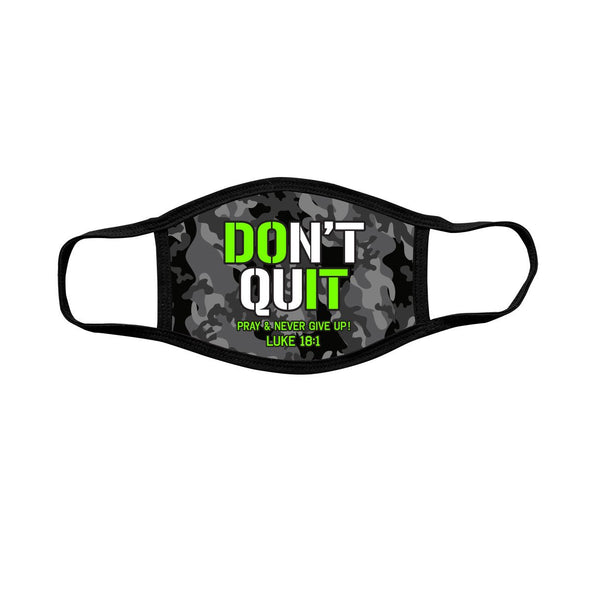 Kerusso Youth Face Mask Black & Grey Camo