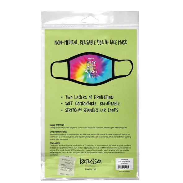 Kerusso Youth Face Mask Pray More Tie Dye Masks