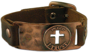In God I Trust - Leather Christian Bracelet Bracelets