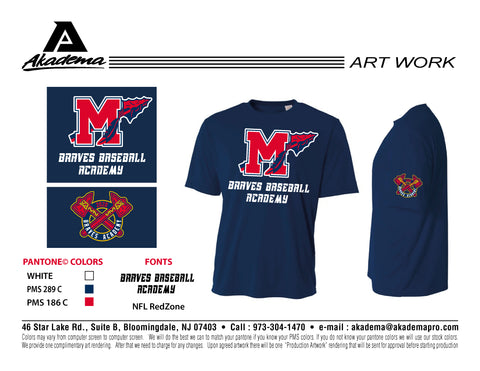 Manalapan Braves Performance Shirt
