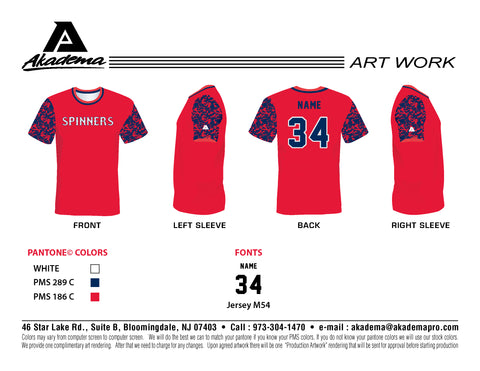 Jr Spinners Red Jersey