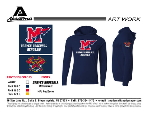 Manalapan Braves Navy Performance Hoodie