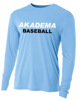 AKADEMA BASEBALL Cooling Performance Long Sleeve Crew