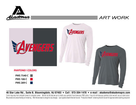 Avengers Baseball Club Long Sleeve Performance Top