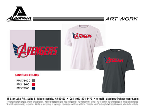 Avengers Baseball Club Short Sleeve Performance Top