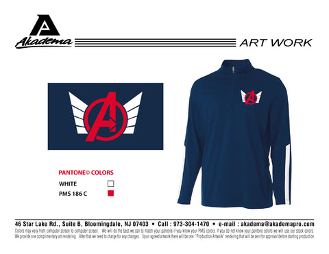 Avengers Baseball Club 1/4 ZIp