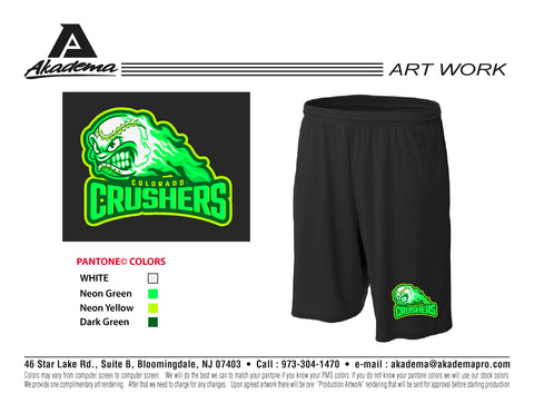 Colorado Crushers Pocketed Shorts
