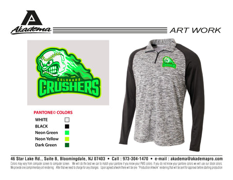 Colorado Crushers 1/4 Zip Space Dye