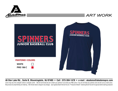 Spinners Baseball Club Long Sleeve Performance Shirt