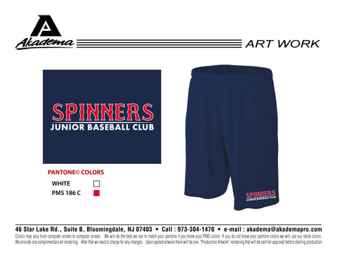Spinners Baseball Club Pocketed Shorts