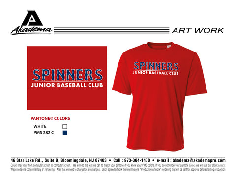 Spinners Baseball Club Short Sleeve Performance Tee