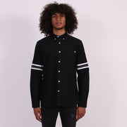 The Manchester Tailored Shirt with Hand Pockets - Black
