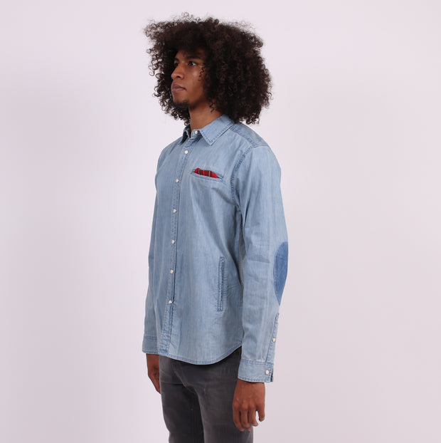 The Pioneer Tailored Shirt with Hand Pockets - Denim
