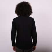 The Sojourn Tailored Shirt with Hand Pockets - Black