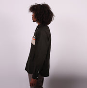 The Sojourn Tailored Shirt with Hand Pockets - Olive