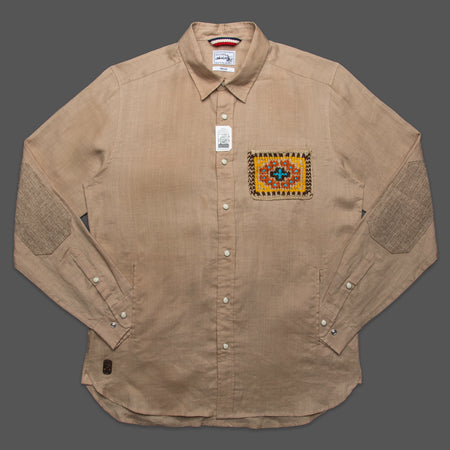 Refugee Collab Tailored Shirt with Hand Pockets - Tan