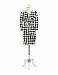 Black and white geometric print suit