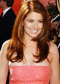 Debra Messing in salmon