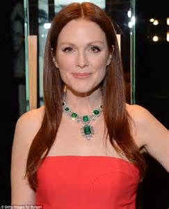 Julianne Moore in coral
