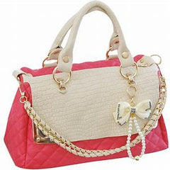 pink angular purse