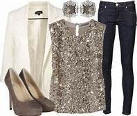 a dressy jeans outfit