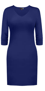V Neck 3/4 Sleeve Dress