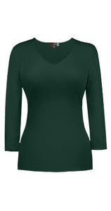 V Neck 3/4 Sleeve Top
