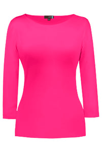 Sabrina Neck 3/4 Sleeve Top