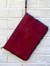 Red Cowhide Wristlet